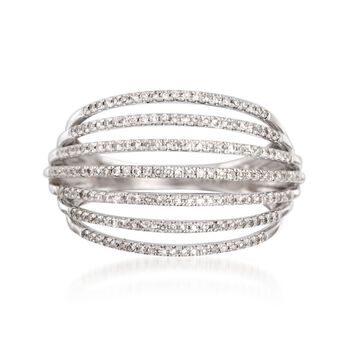 .50 ct. t.w. Diamond Multi-Row Ring in 14kt White Gold, , default