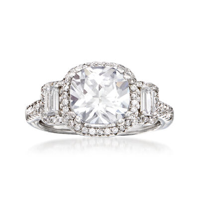 3.00 ct. t.w. CZ Ring in Sterling Silver, , default