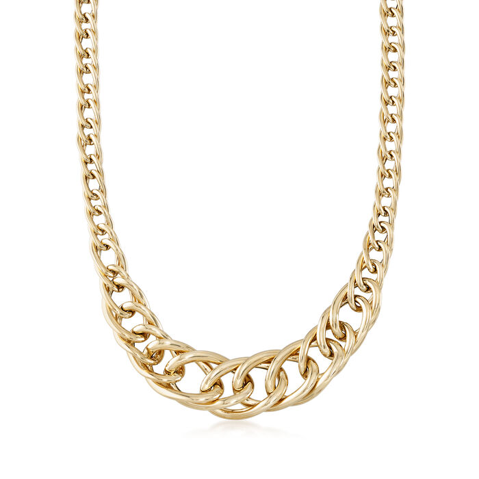 Italian 14kt Yellow Gold Cuban-Link Necklace, , default