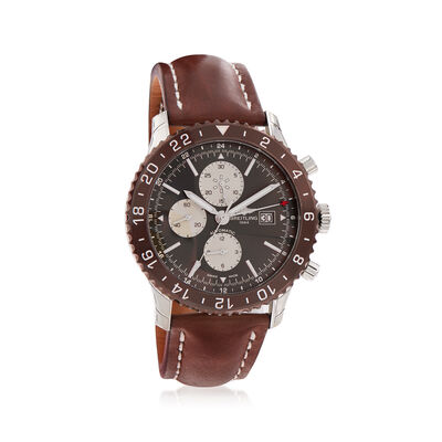 "Breitling Chronoliner 46mm Men""S Auto Chronograph Watch in Stainless Steel, , default"