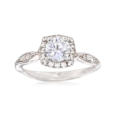 Gabriel Designs .23 ct. t.w. Diamond Halo Engagement Ring Setting in 14kt White Gold, , default