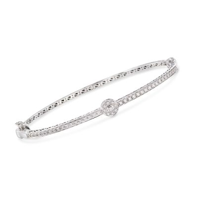 ALOR .42 ct. t.w. Diamond Bangle Bracelet in 18kt White Gold, , default