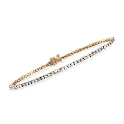 2.00 ct. t.w. Diamond Tennis Bracelet in 14kt Yellow Gold, , default