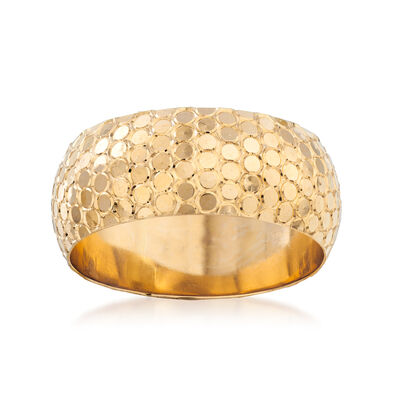 14kt Yellow Gold Sequin-Inspired Ring