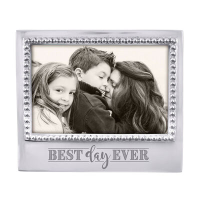 """Mariposa """"Best Day Ever"""" Beaded 4x6 Photo Frame, , default"""