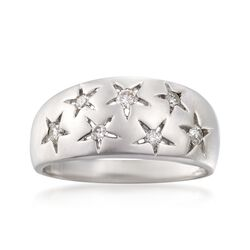 .25 ct. t.w. Diamond Star Ring in Sterling Silver. Size 5, , default