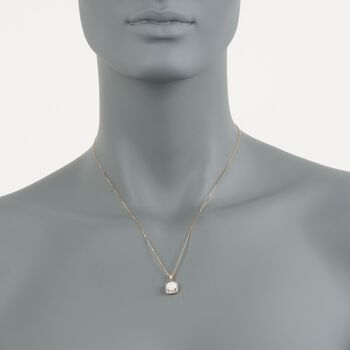 "Opal Pendant Necklace With Diamond Accents in 14kt Yellow Gold. 18"", , default"