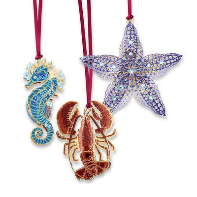 Set of 3 Sea Life Ornaments, , default