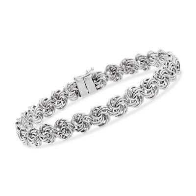 Rosetta-Link Bracelet in Sterling Silver, , default
