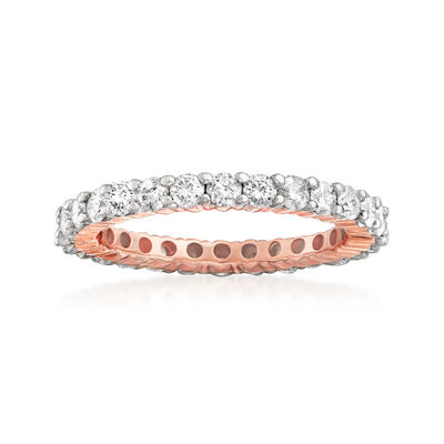 1.50 ct. t.w. Diamond Eternity Band in 14kt Rose Gold, , default