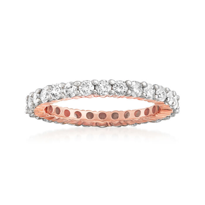 1.50 ct. t.w. Diamond Eternity Band in 14kt Rose Gold. Size 6