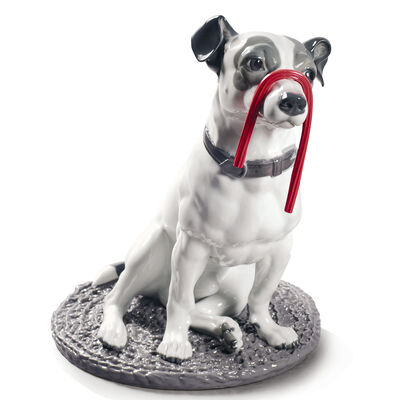 "Lladro ""Jack Russell with Licorice"" Porcelain Figurine"