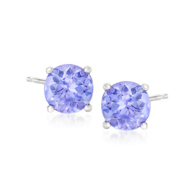.95 ct. t.w. Tanzanite Stud Earrings in 14kt White Gold