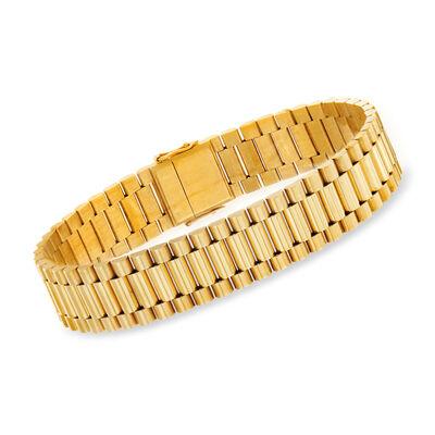 C. 1980 Vintage 18kt Yellow Gold Link Bracelet