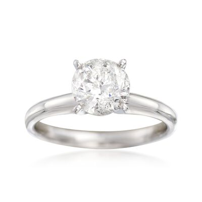 1.50 Carat Diamond Solitaire Ring in 14kt White Gold, , default