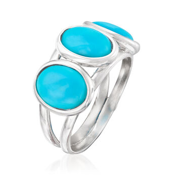 Italian Turquoise Ring in Sterling Silver, , default