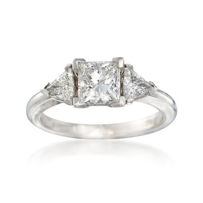 1.45 ct. t.w. Certified Diamond Three-Stone Ring in 14kt White Gold, , default