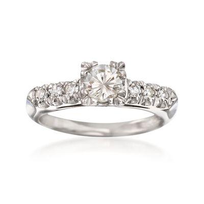 C. 2000 Vintage .61 ct. t.w. Diamond Engagement Ring in Platinum, , default