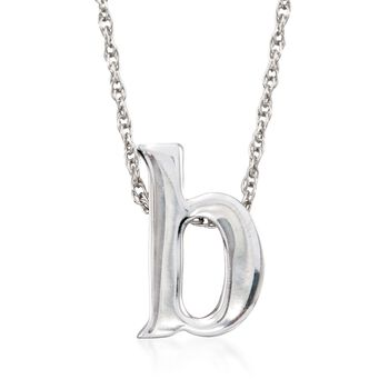 Sterling Silver Lowercase Initial Necklace