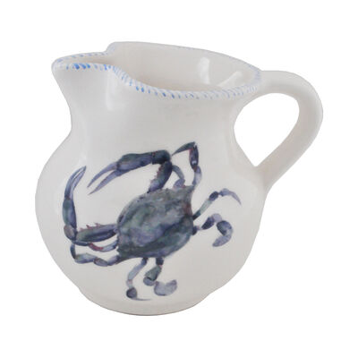 Abbiamo Tutto Italian Blue Crab Ceramic Pitcher, , default