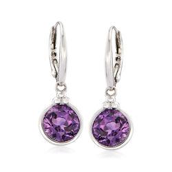 3.30 ct. t.w. Amethyst Drop Earrings in Sterling Silver, , default