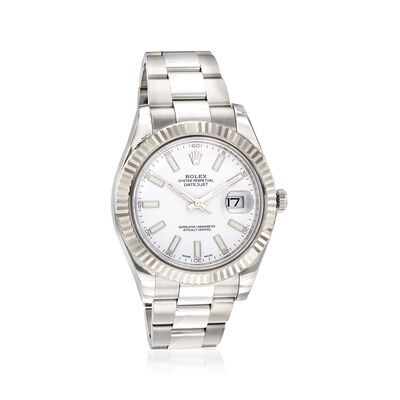 Pre-Owned Rolex Datejust II Men's 41mm Automatic Stainless Steel Watch with 18kt White Gold, , default