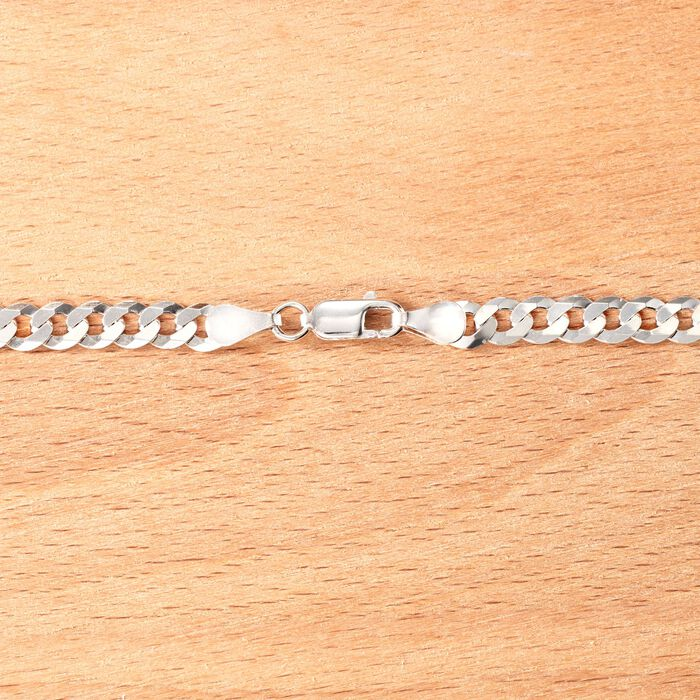 Men's 5mm Sterling Silver Curb-Link Chain Necklace