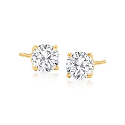 .75 ct. t.w. Diamond Stud Earrings in 14kt Yellow Gold