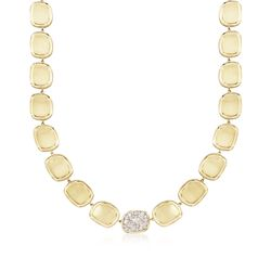"Roberto Coin .86 ct. t.w. Diamond Necklace in 18kt Yellow Gold. 16"", , default"