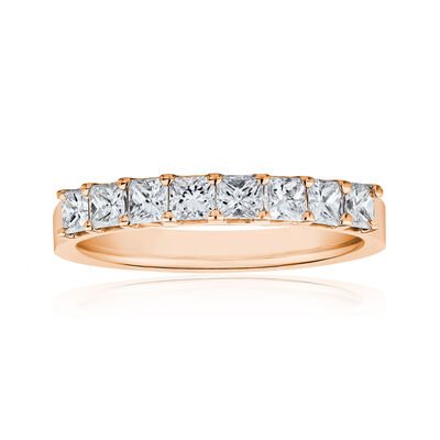 1.60 ct. t.w. Princess-Cut Diamond Ring in 14kt Rose Gold, , default