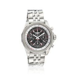 Breitling Bentley B06s Men's 44mm Auto Chronograph Stainless Steel Watch - Black Dial, , default