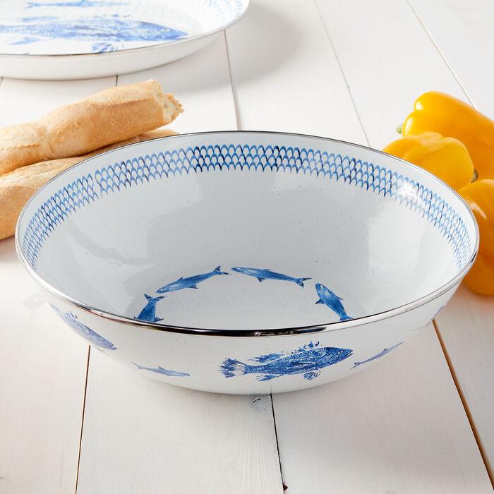 Golden Rabbit Fish Camp Dinnerware - Serving Bowl, , default
