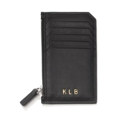 Royce Leather Three-Initial Card Wallet, , default