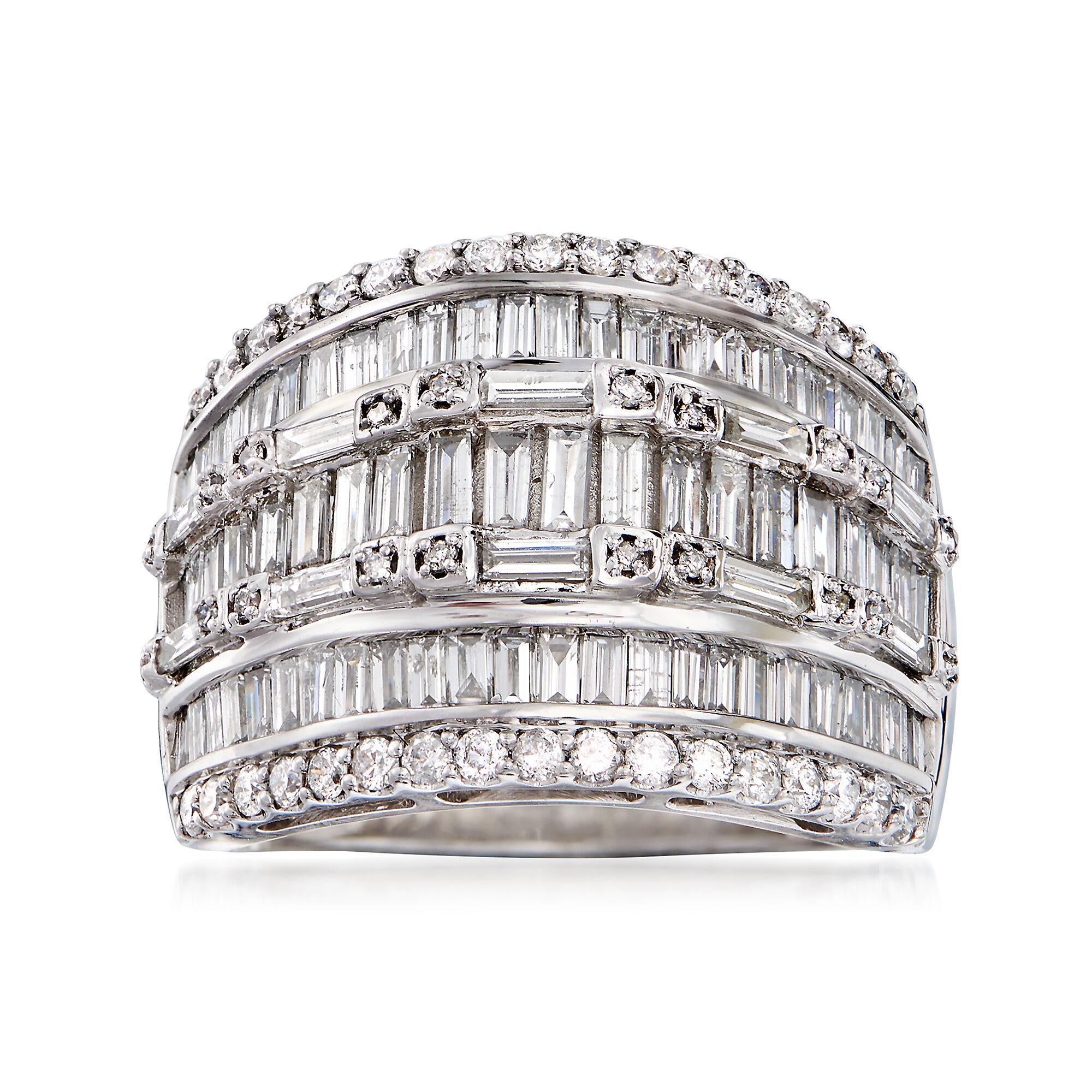 Round Cut Diamond 2.00CT Double Halo Twist Engagement Ring 14K White Gold Finish