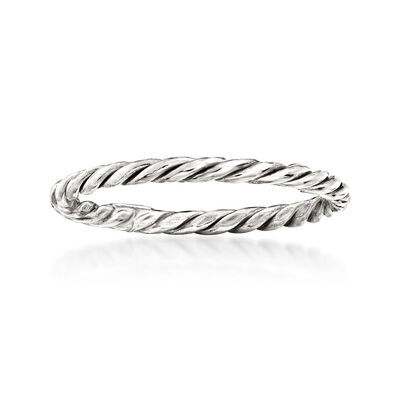 18kt White Gold Rope Ring