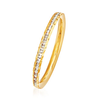 .70 ct. t.w. CZ Ring in 14kt Yellow Gold, , default