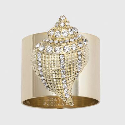 Joanna Buchanan Set of 2 Sparkle Shell Napkin Rings