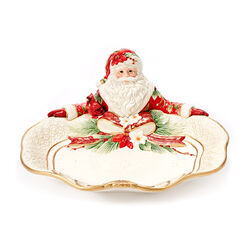"Fitz and Floyd ""Cardinal"" Christmas Santa Serving Plate, , default"