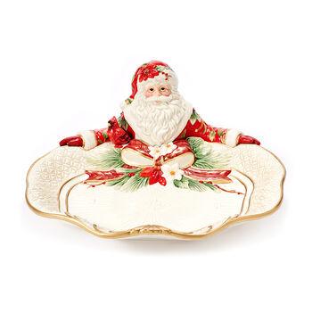 "Fitz and Floyd ""Cardinal"" Christmas Santa Serving Plate, , default"