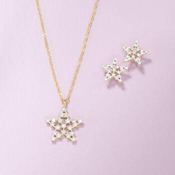 .20 ct. t.w. Diamond Star Stud Earrings in 14kt Yellow Gold
