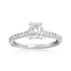 Henri Daussi .91 ct. t.w. Diamond Engagement Ring in 18kt White Gold, , default