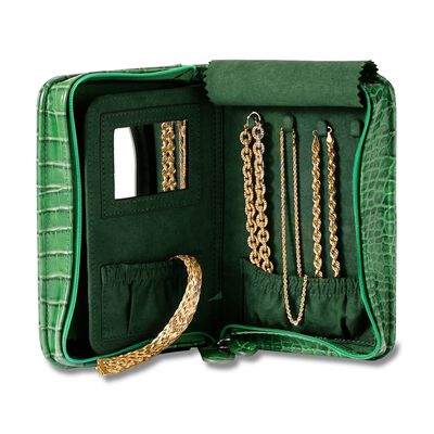 Green Perfect Travel Jewelry Case, , default