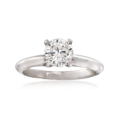 C. 2000 Vintage .95 Carat Diamond Solitaire Ring in 14kt White Gold, , default