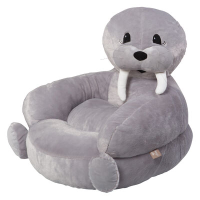 Children's Walrus Plush Character Chair, , default