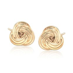 14kt Yellow Gold Love Knot Earrings , , default