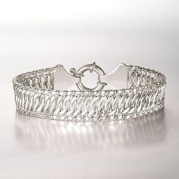 """Italian Sterling Silver Multi-Chain Link Bracelet. 8.5"""", , default"""