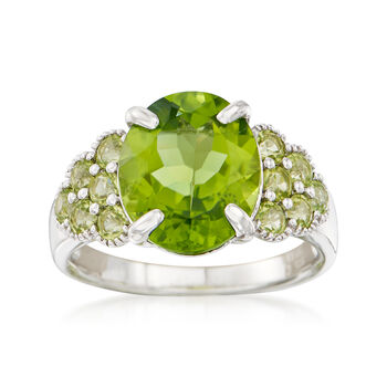 5.20 ct. t.w. Peridot Ring in Sterling Silver, , default