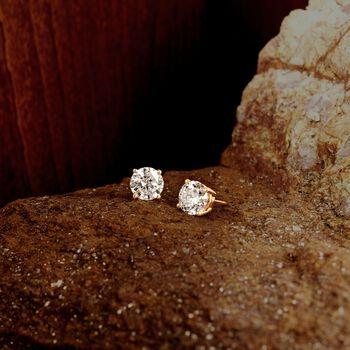 3.00 ct. t.w. Diamond Stud Earrings in 18kt Yellow Gold