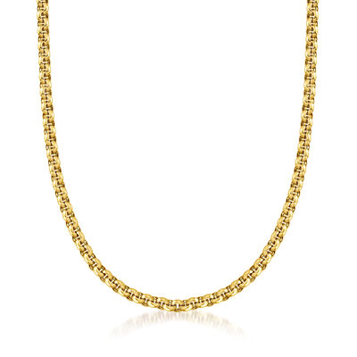 C. 1990 Vintage Chopard 18kt Yellow Gold Rolo Chain Necklace