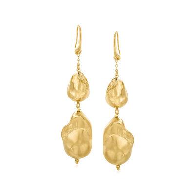 Italian 18kt Gold Over Sterling Baroque-Style Drop Earrings